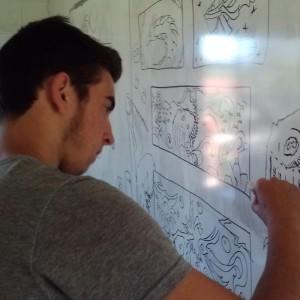 HMS art workshop drawing