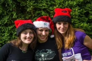 christmas hats santa girl