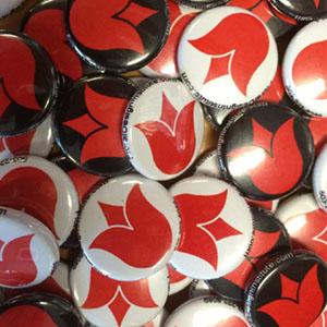 custom mini buttons Portland