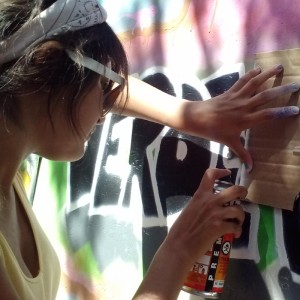 spray paint art workshop