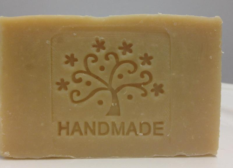 goat milk soap hand