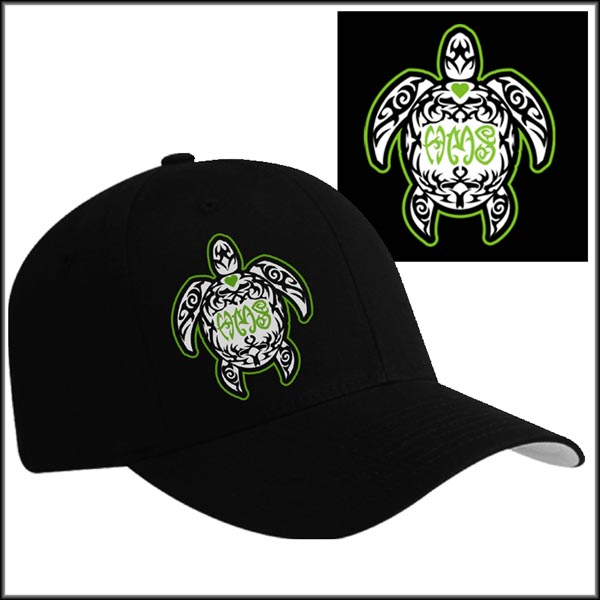 Sea turtle hat embroidery