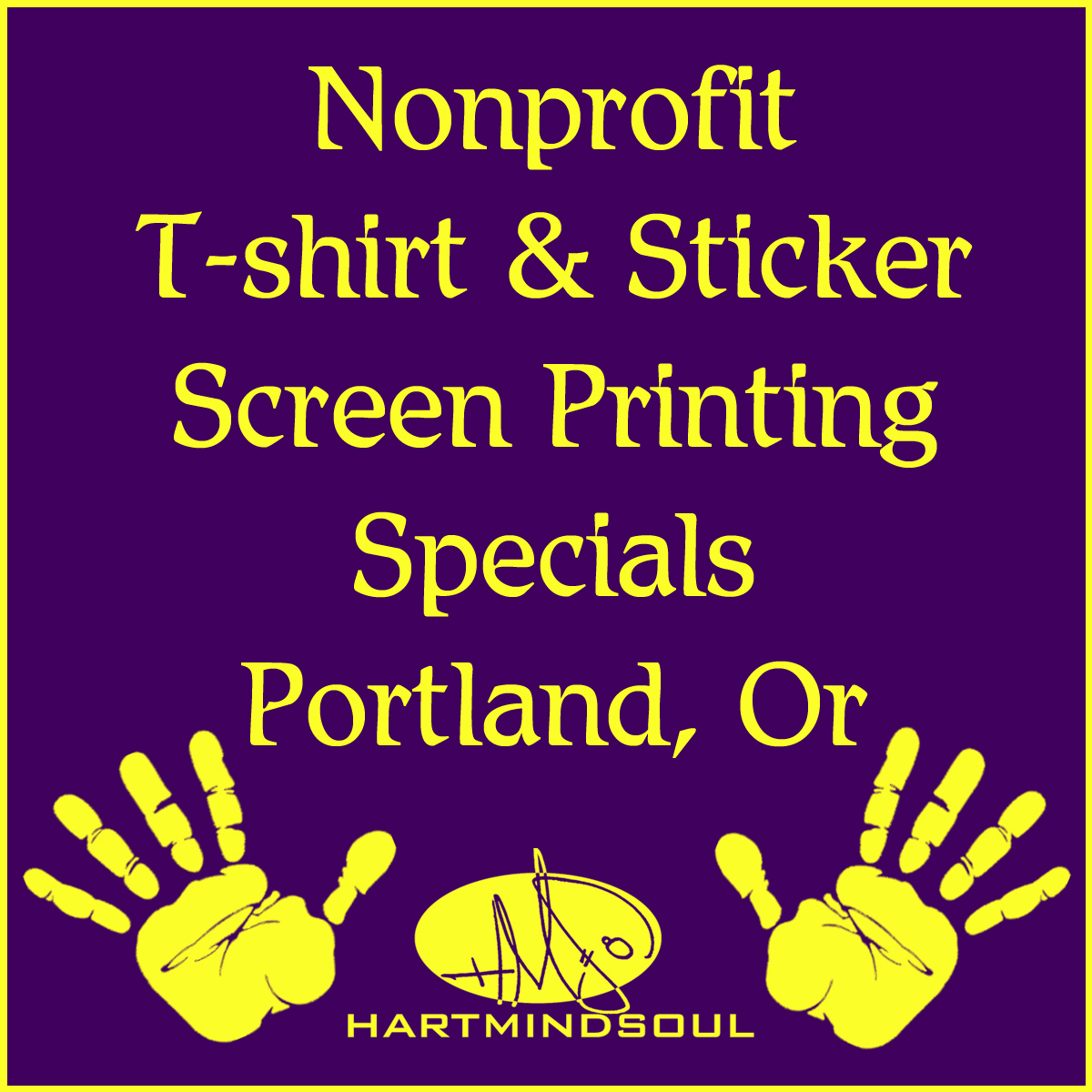 Nonprofit printing specials portland hms nation hart for T shirt printing for non profit organizations