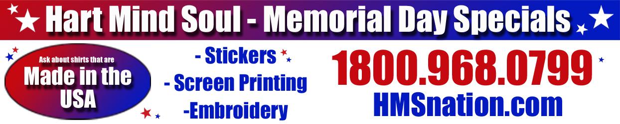 Memorial Day Sticker Specials Portland HMS