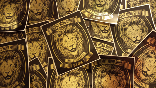 heart mind soul gold foil stickers