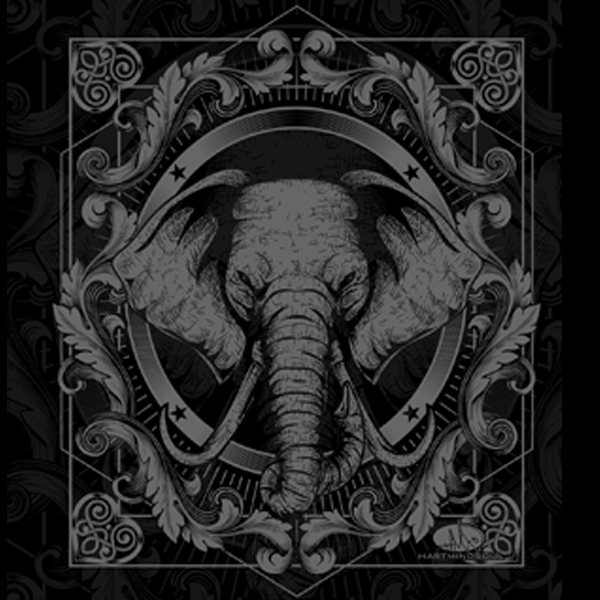 Discharge Screen Printing Elephant Shirt