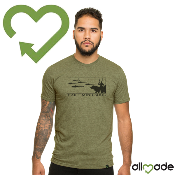 Olive You Green All Made T Shirt